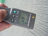 施工前被着体表面温度