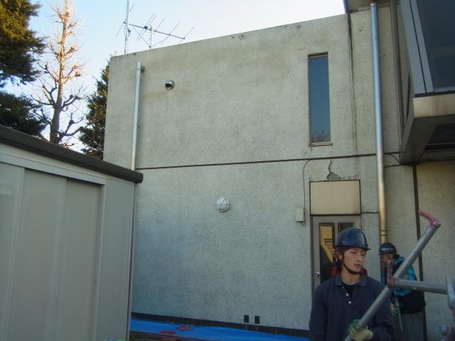 練馬区内 某小学校体育館外壁一部塗装工事