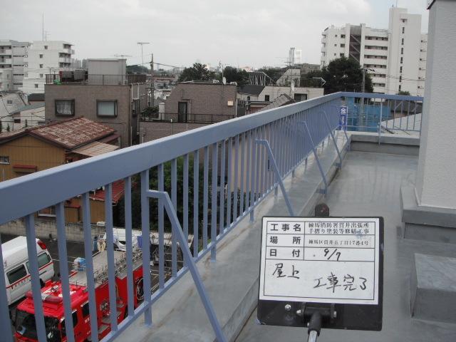 練馬区内 某消防署屋上手摺塗装工事
