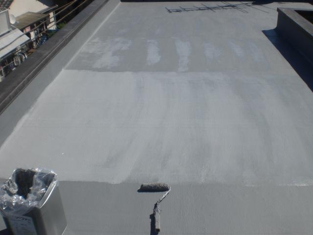 防水主材2層目塗布