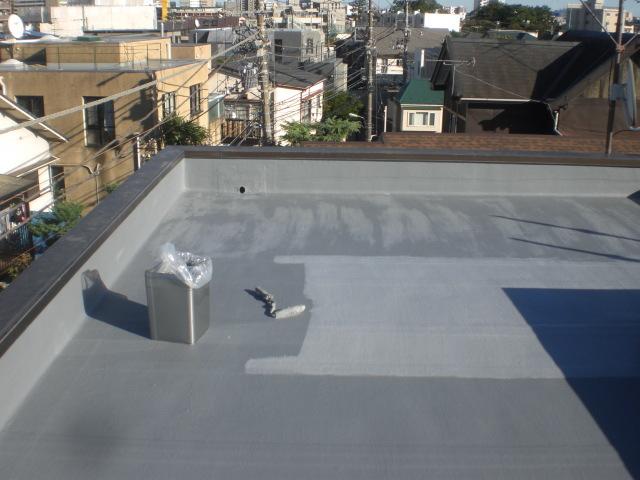 防水主材3層目塗布