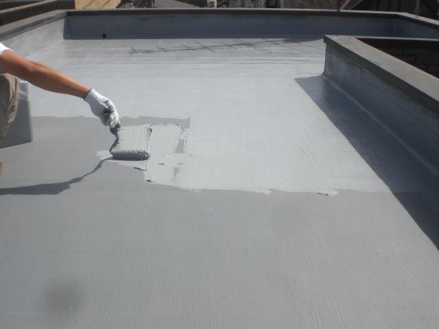 防水主材4層目塗布