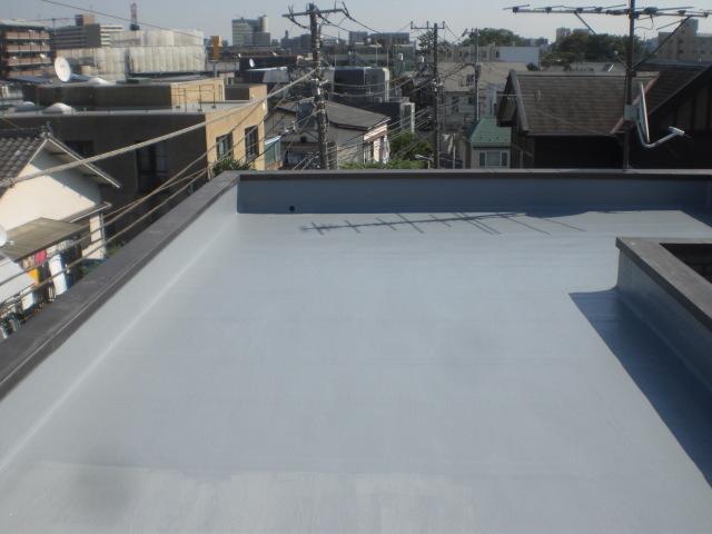 防水主材4層目塗布完了