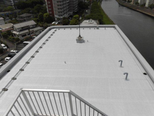 Kパレス北赤羽屋上トップコート塗替え工事