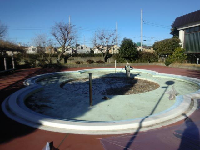 練馬区内某児童館プール塗装工事