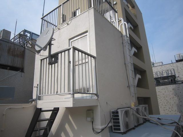 中央区内EV外壁塗装・屋根防水工事
