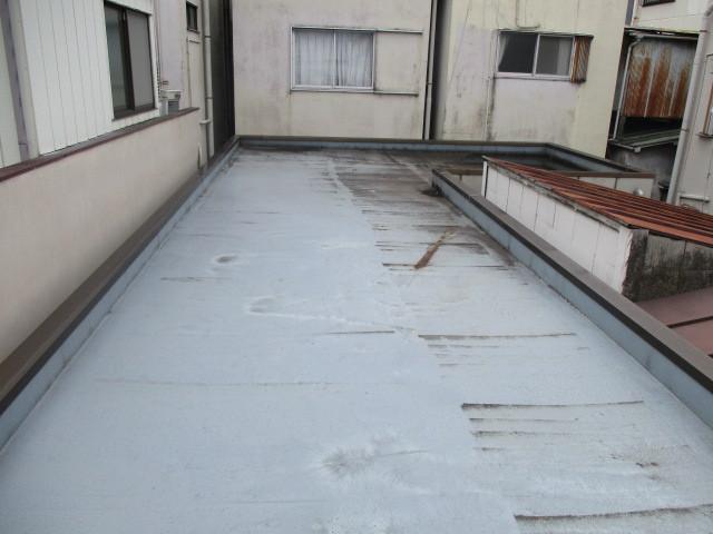 豊島区内某住宅屋上防水工事