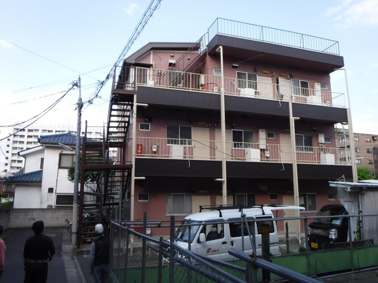 板橋区内某アパート塗装工事