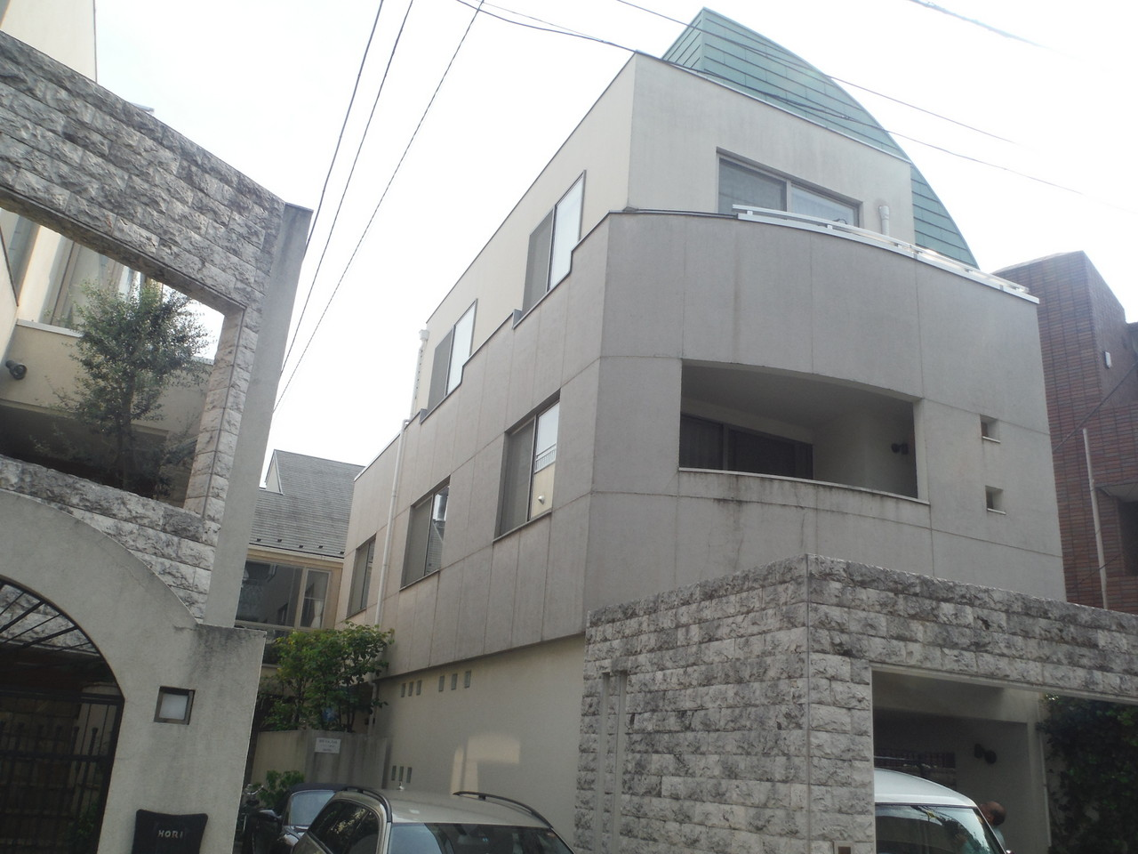 渋谷区内戸建住宅塗装工事
