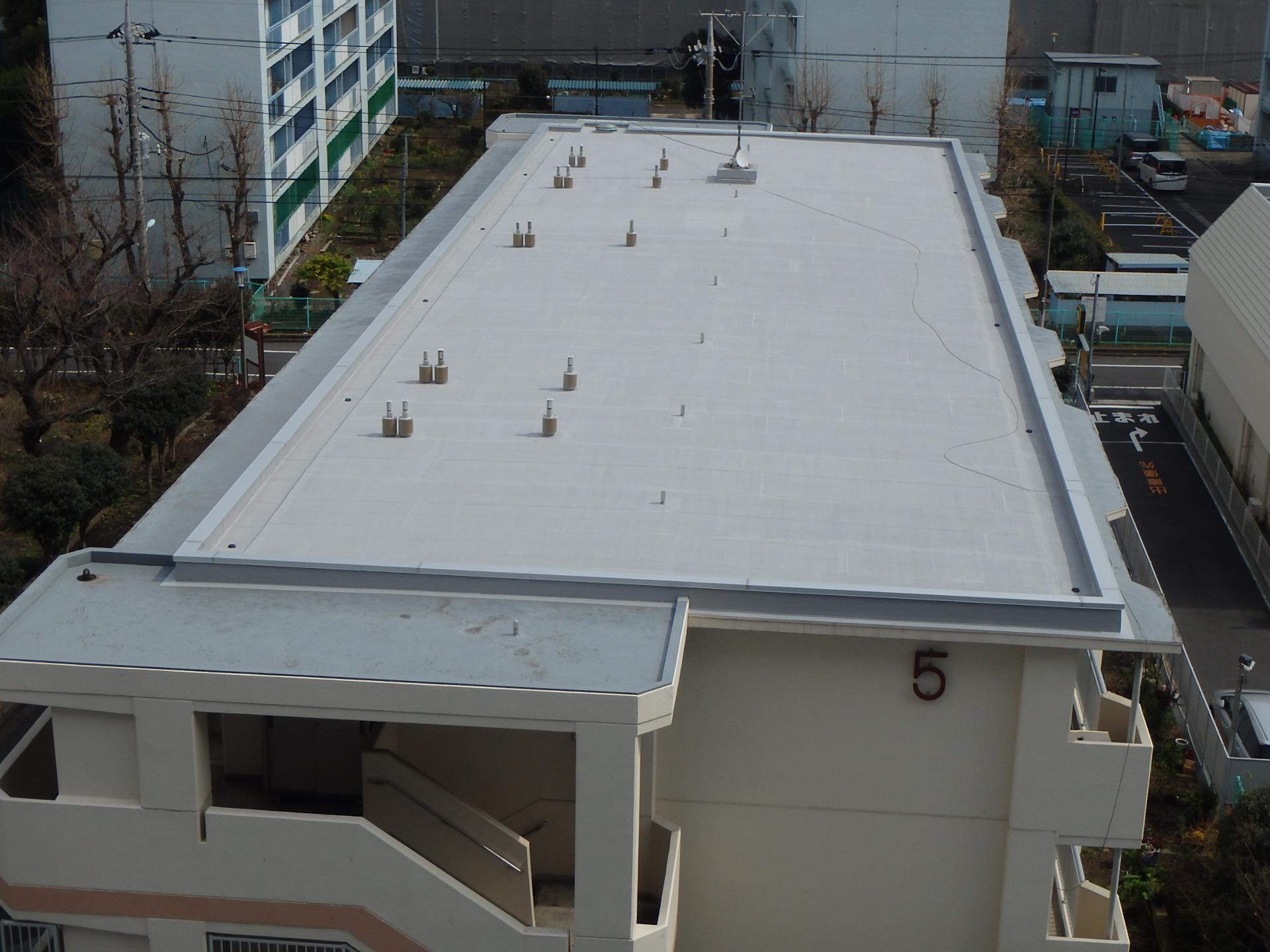 板橋区内 某都営団地屋上防水工事